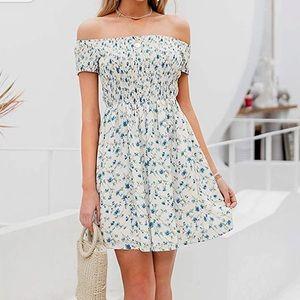 Off the Dress Boho Dress Floral Print Sprint Dress